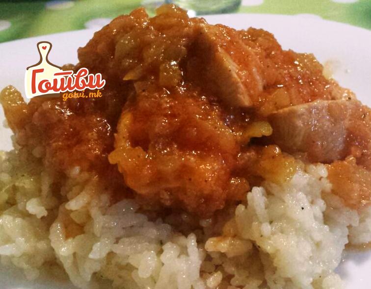 Пилешка мучкалица со ориз