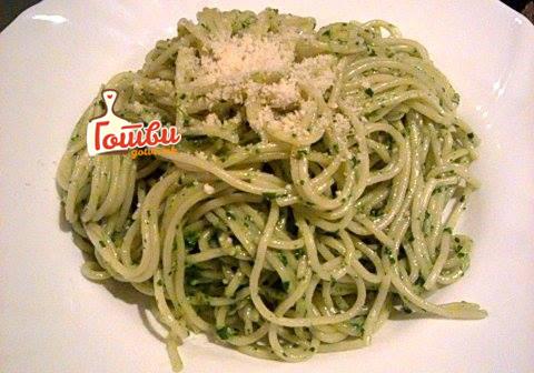 Деликатес на денот: Шпагети со песто и печурки