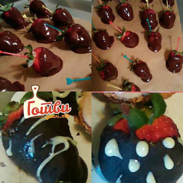 Брз рецепт за чоколадни јагоди