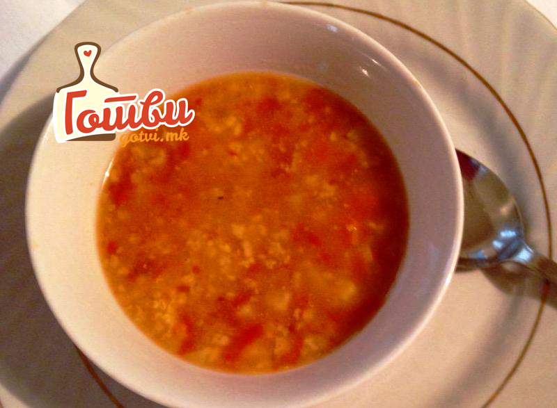 Мисиркина супа со просо и овесни снегулки