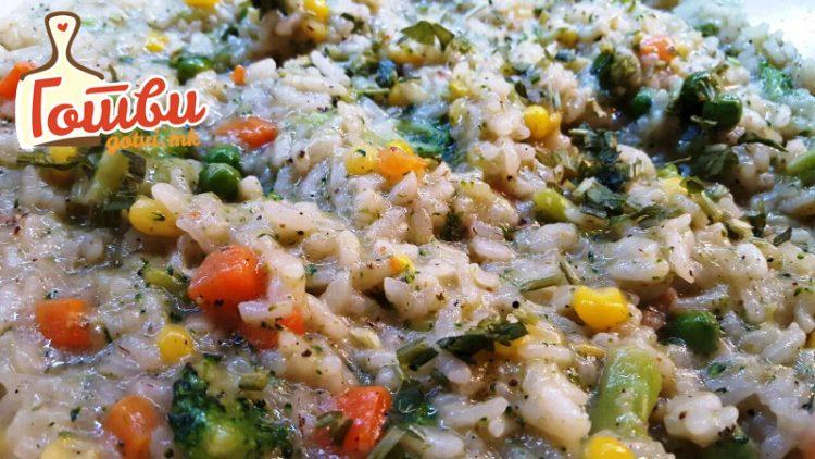 Необична салата од ориз и колбаси
