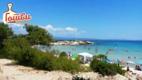 Плажа на море Халкидики втор крак (Karidi beach Филип)