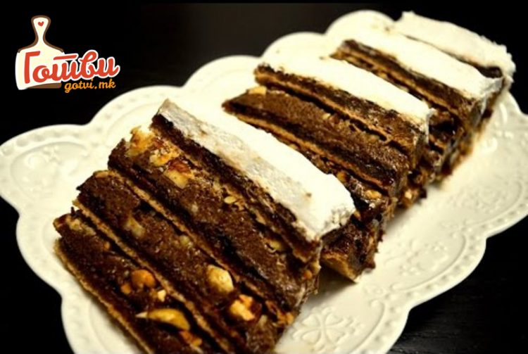 Торта со плазма и нутела без печење