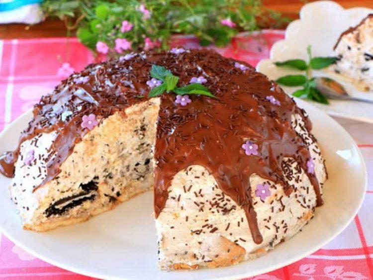 ПРЕУБАВА: Сладолед торта со орео кекс (В�ДЕО РЕЦЕПТ)