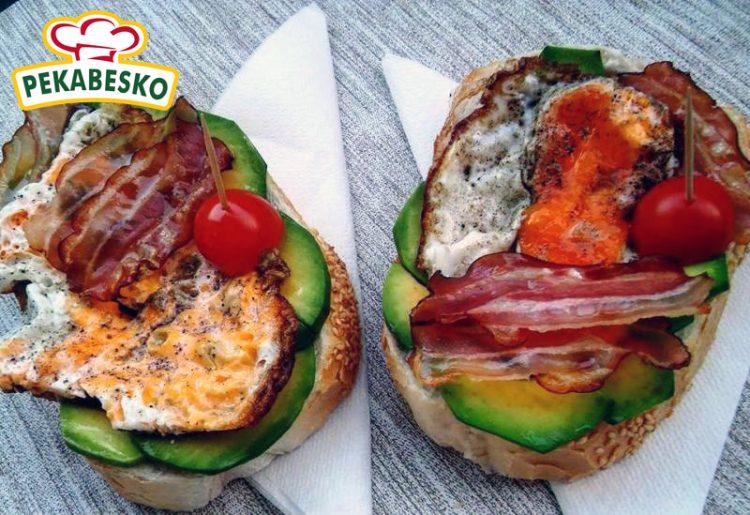 Лепчиња со пржени јајца, сланина и авокадо – Појадок за мерак!