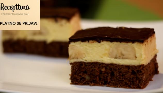 Лесен десерт без мака: Банана коцки