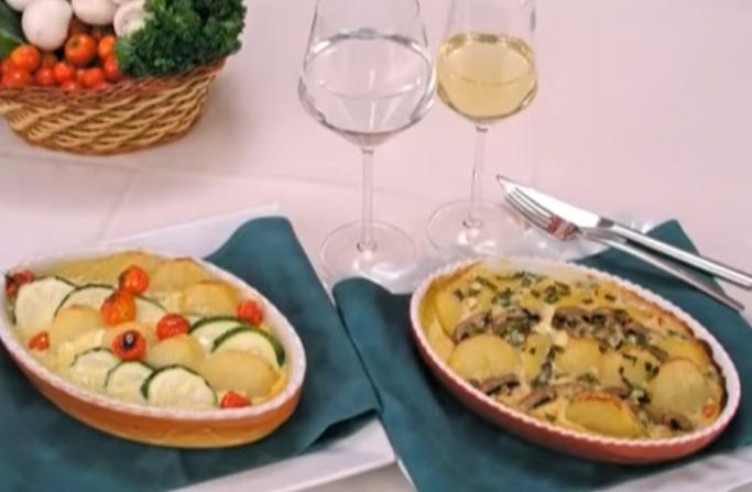 Запечен компир со шампињони – деликатесен ручек