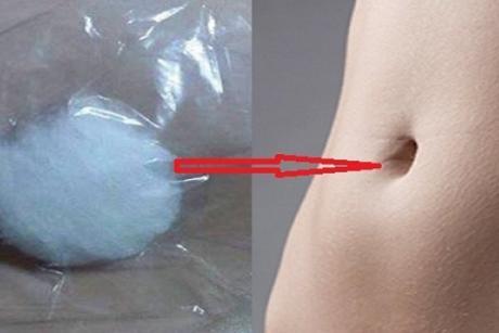 Ставете сол на памук па ставете го на папокот – еве како помага