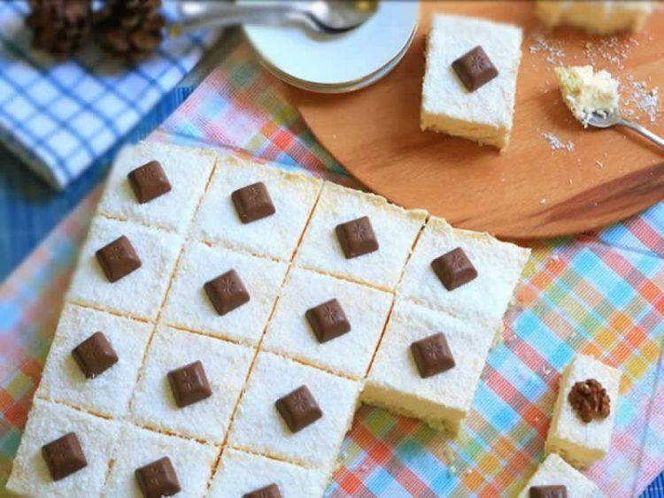 Десерт за секој ден: Рецепт за најдобри бели коцки