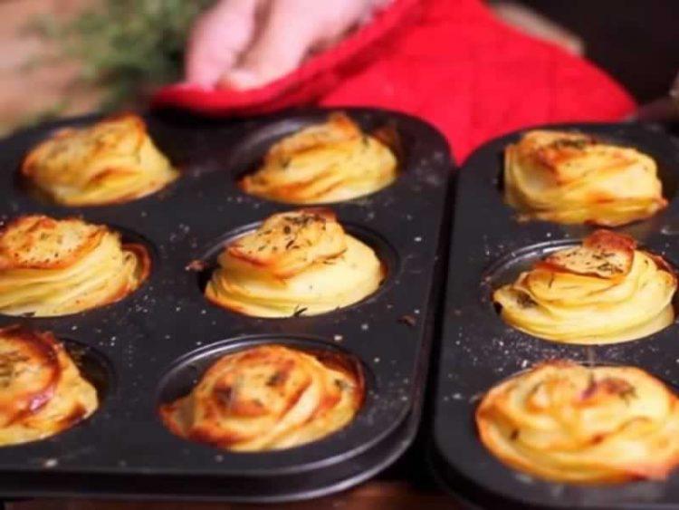 Мафини од компири со прамезан (Видео)