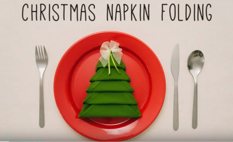 Видео декорација: Направете елка од салфета