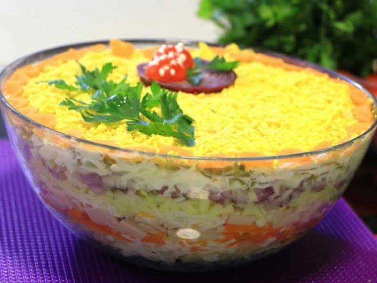 Рецепт за вкусна мимоза салата (Видео)