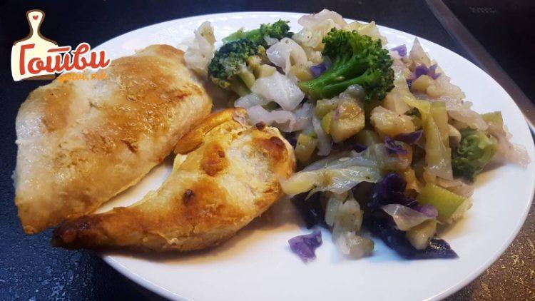 Ручек за помалку од половина час: Пилешко со печурки, ќе замириса домот