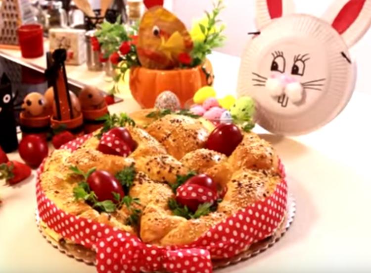 Велигденска погача со вапцани јајца – Деликатес на трпезата