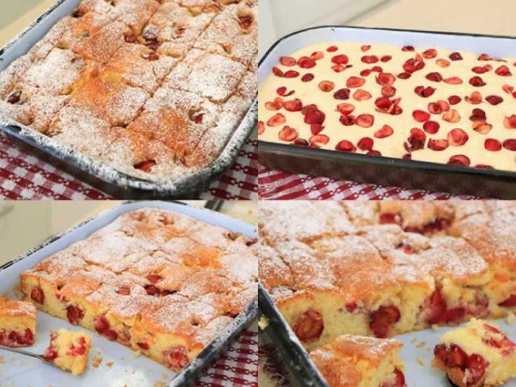 Најмекиот колач со вишни или цреши (Видео)