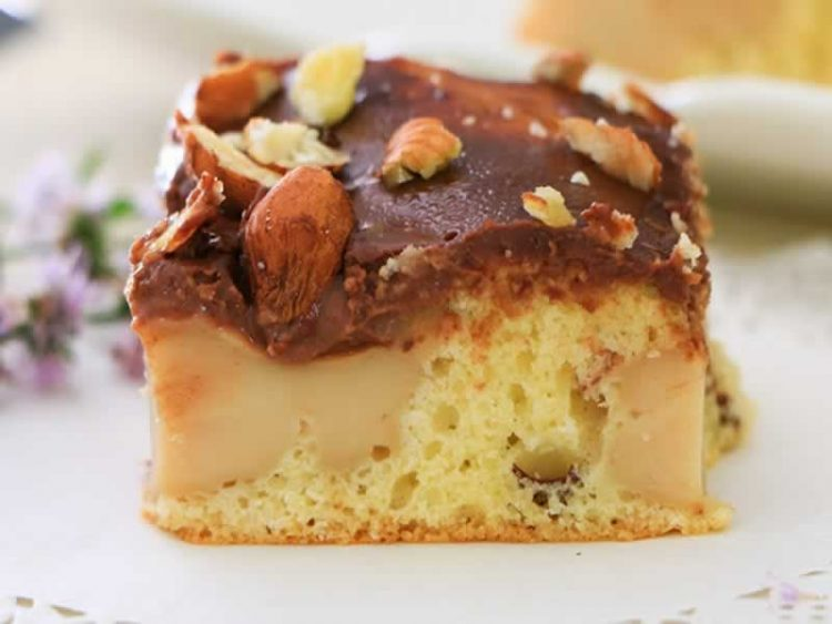 Колач торта со еурокрем без брашно (Видео)