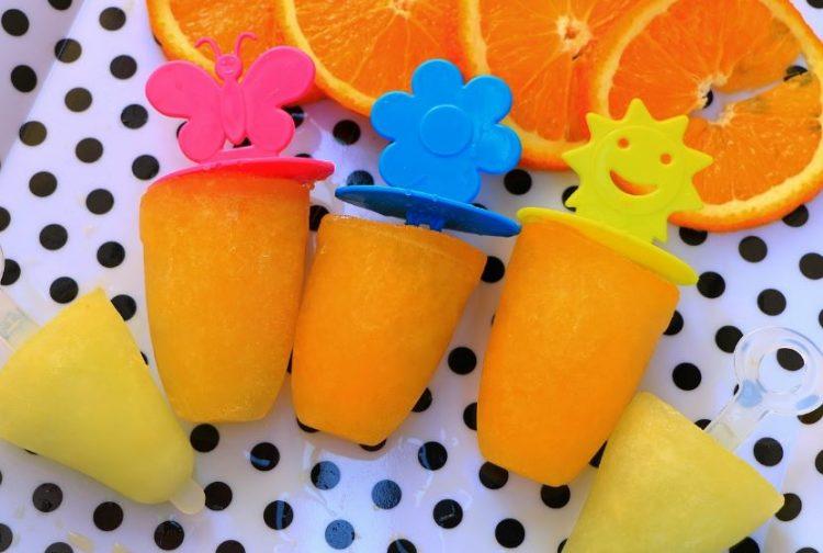 Освежувачки сладолед од цедевита и портокал