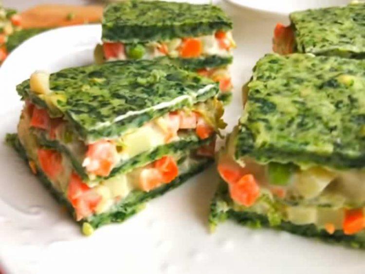 Предјадење кое освојува: Солена торта со спанаќ и зеленчук