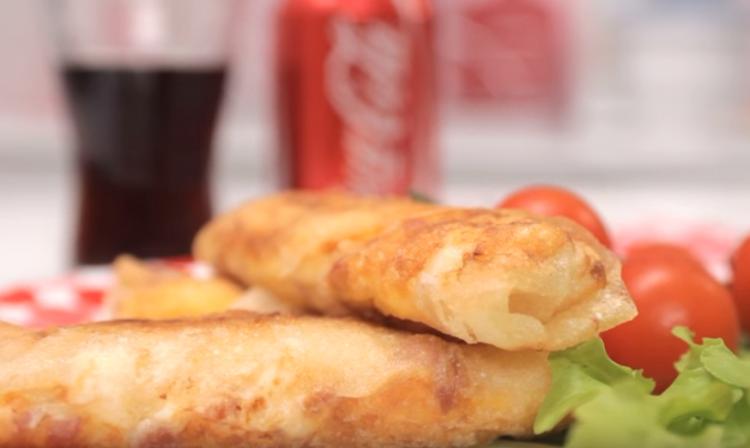 Видео рецепт: Омлет ролнички со фета