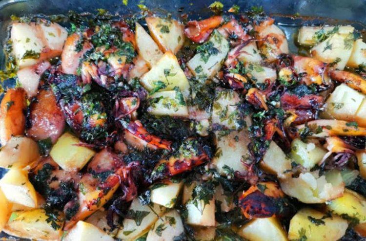 Царски оброк: Лигњи со компири