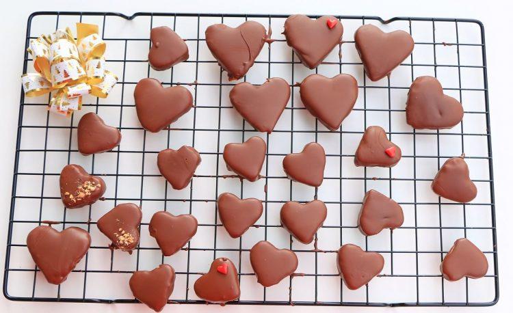 Плазма колачиња во облик на срце