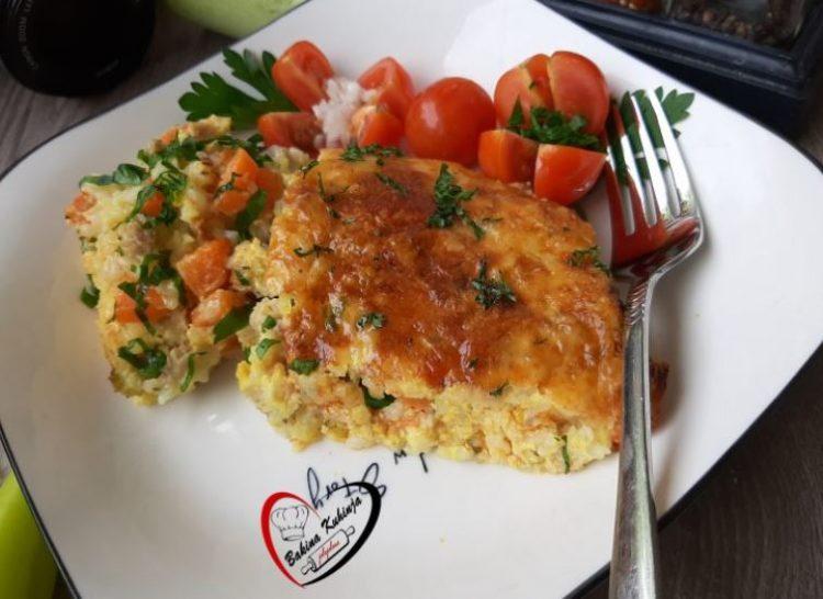 Ориз со мелено месо запечен во рерна
