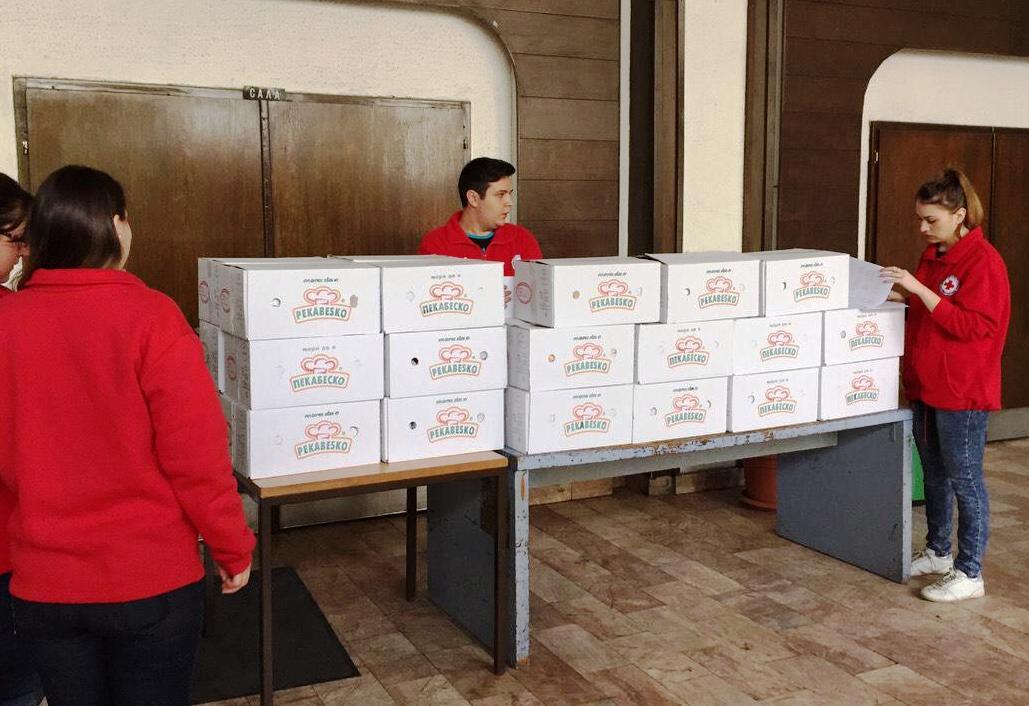 Пекабеско донираше пакети со храна за социјално загрозени семејства