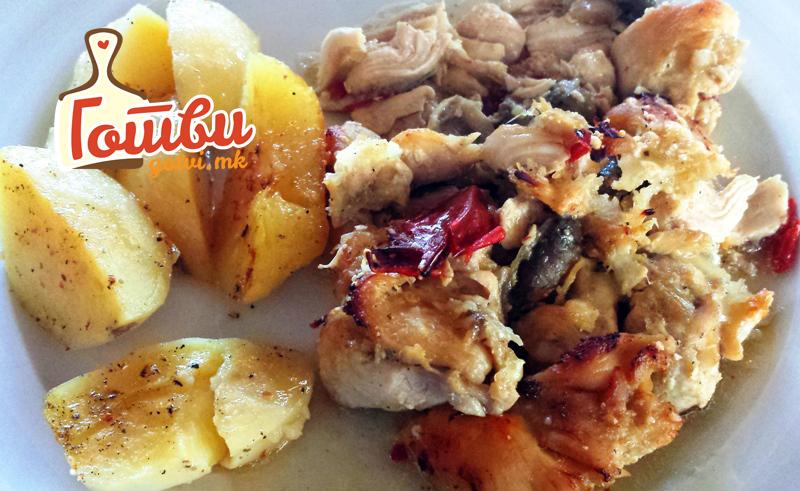 Одличен рецепт – Потпечено мешано месо со печурки