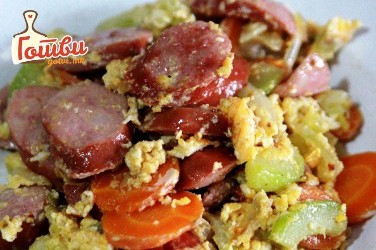 Фантазија рецепт: Крањска со зеленчук