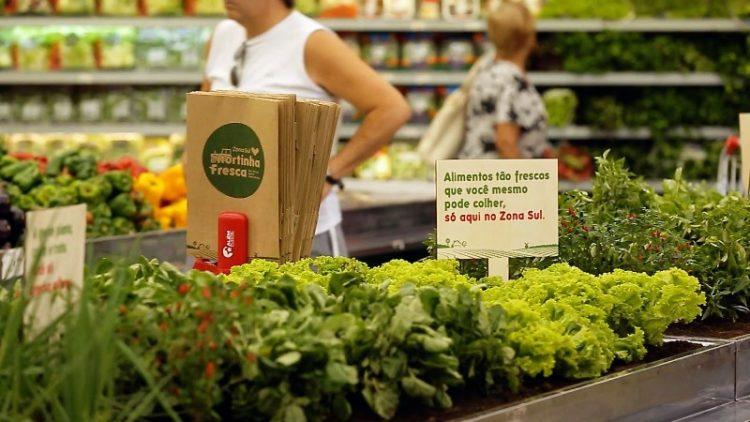 ВИДЕО: Во овој супермаркет купувачите сами го берат зеленчукот