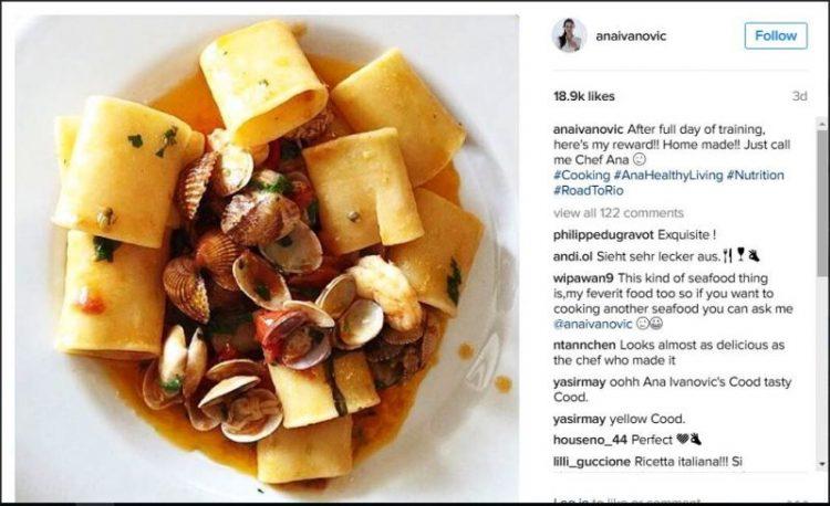 ФОТО: Шеф Ана Ивановиќ – Еве што зготвила викендов за вечера