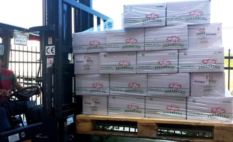 Пекабеско донираше 2,4 тони млеко и конзервирана храна за настраданите во поплавите