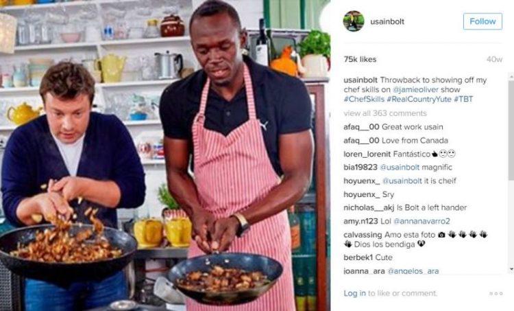 ФОТО: Усеин Болт или Џејми Оливер – Кој готви подобро?