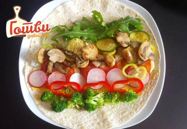 Бурито со зеленчук – вкус и изглед кој сите ќе ги освои