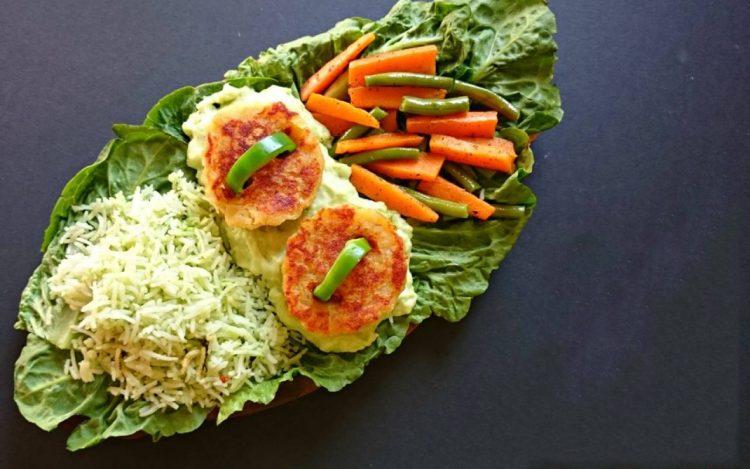 Свеж зеленчук со крем сос