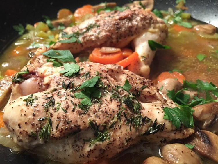 Пиле со мешан зеленчук
