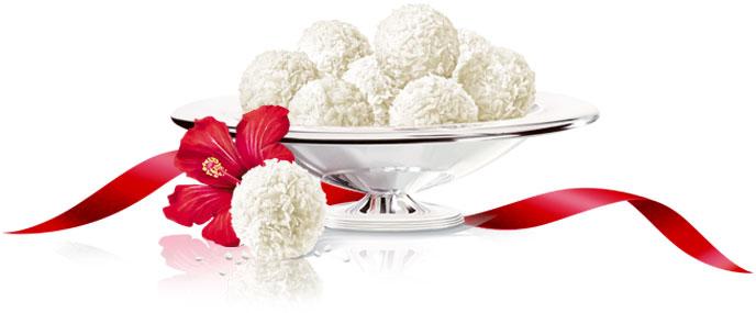 Бело уживање: Посни рафаело топчиња