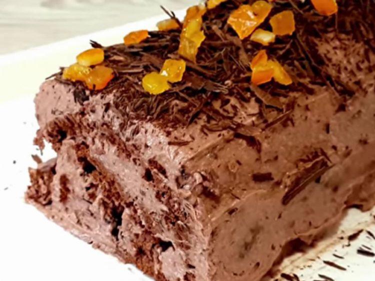Чоколаден ролат со портокал (ВИДЕО)