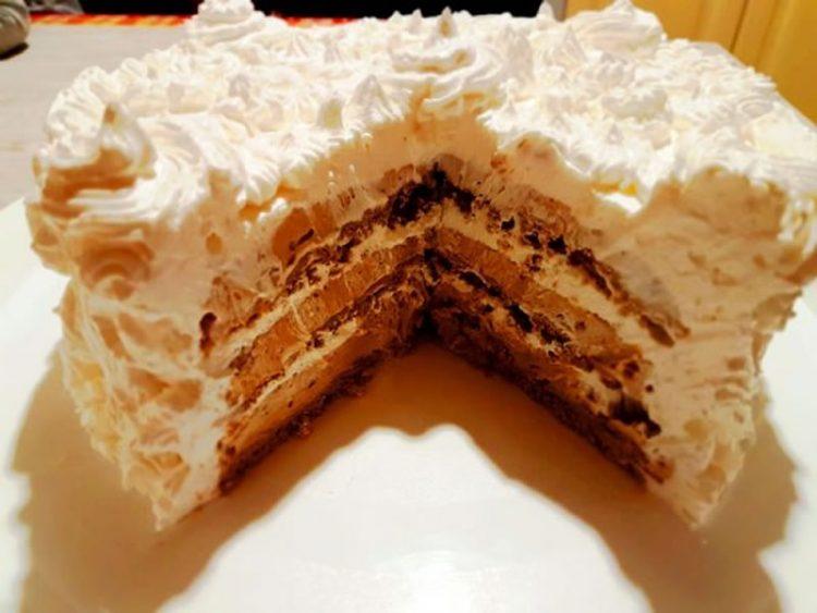 Посна торта со нескафе