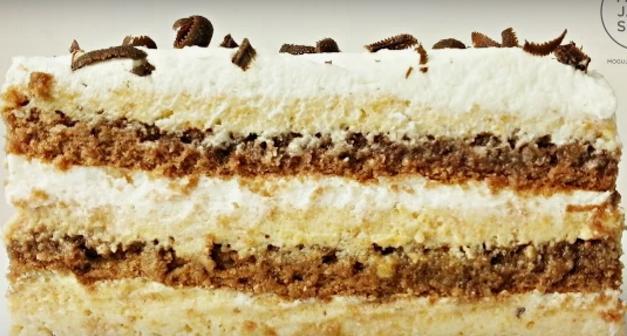"""ВИДЕО РЕЦЕПТ: """"Чоко-моко"""" торта"""