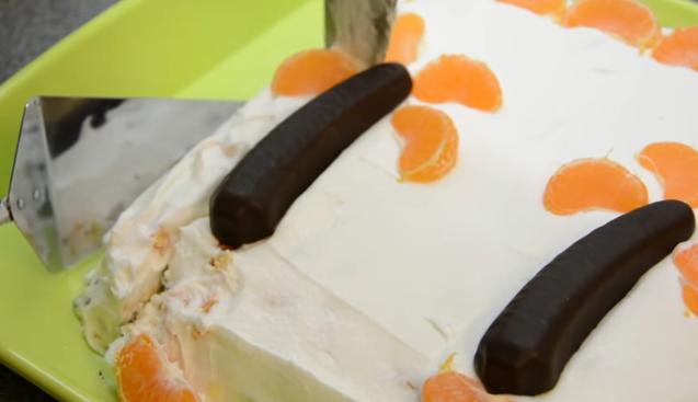 И за деца и за возрасни: Торта со крем бананчиња