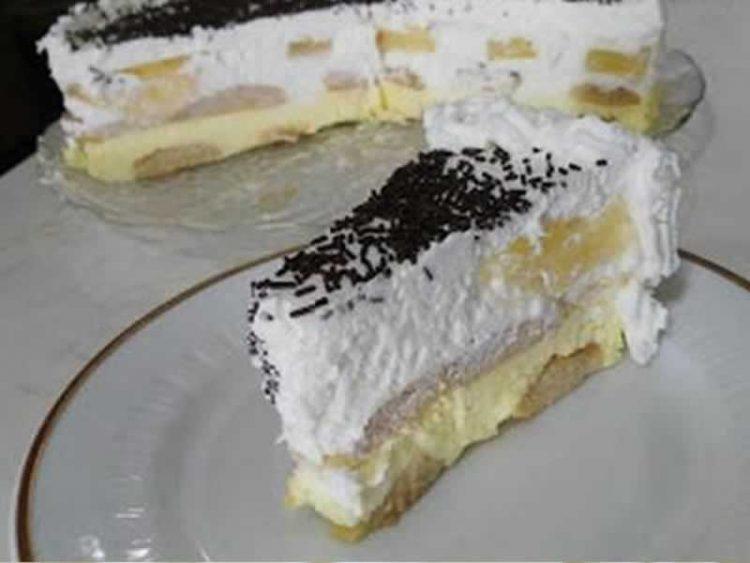 НЕ СЕ ПЕЧЕ: Кремаста торта со ананас