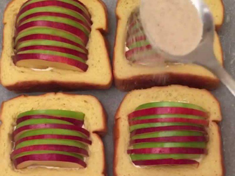 Несекојдневни и брзи: Пржени лепчиња со јаболка и крем сирење (Видео)