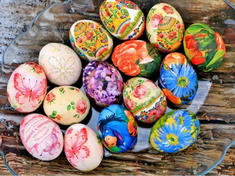 Декупаж на јајца – омилен метод за декорација Велигденски јајца (Видео)