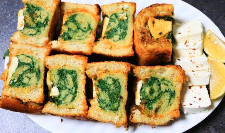 Стар леб како вкусен оброк: Полнет со спанаќ, јајца и сирење